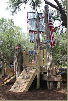 Our girl would  love this! pirate playscape
