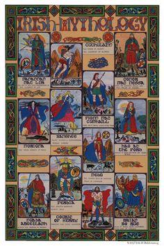 Irish Mythology poster by Carmen Garcia (CelticJourney on Etsy)