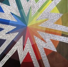 Art At Woodstock: Design: Color Wheel. High school. The written words describe the colors.