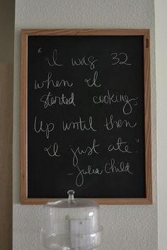 Kitchen quotes - Julia Child