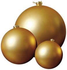 Gold Matte Balls Kit- Add dimension and depth to your tree with #GoldMatteBalls in 3 sizes. Follow #ShowMeDecorating's #Holidaytree #Recipe