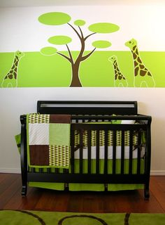 Brown & Green Nursery by Design Dad, via Flickr