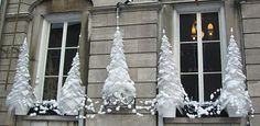 trees were made using large bubble wrap,