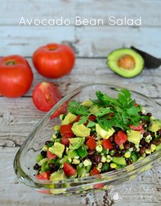 This DELICIOUS and nutritious Avocado Bean Salad will be a hit at your next BBQ!! #realfood