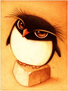 """Un Pinguino."" by *faboarts - Traditional Art / Drawings."