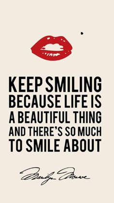 please, just smile!