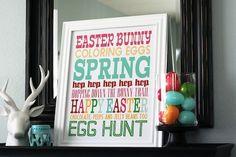 holiday, subway art, season, egg hunt, word art
