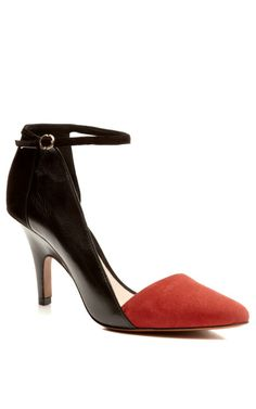 Val Suede Pointy Toe Pump With Ankle Strap by 10 Crosby Derek Lam Now Available on Moda Operandi