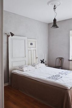 Want to use the old doors as a headboard