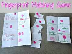 Fancy Nancy (Nancy Clancy Super Sleuth) and a fingerprint matching game  Junior Detective badge