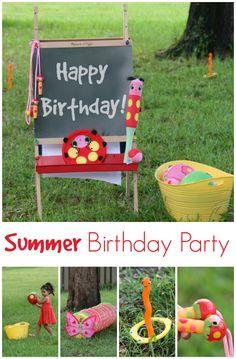 Summer Birthday Party Ideas *Adorable ladybug theme!