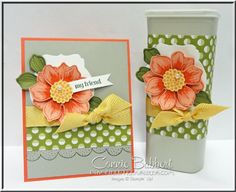Beautiful Bunch, Sweet Taffy DSP, #stampinup, Stampin' Up!, flower, Crystal Light container, Connie Babbert, www.inkspiredtreasures.com