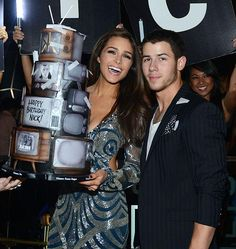Singer-songwriter Nick Jonas and girlfriend Olivia Culpo celebrated his 22nd birthday at Hakkasan Las Vegas Nightclub at MGM Grand on September 19, 2014 in Las Vegas, Nevada (Photo credit: Denise Truscello / WireImage / www.DeniseTruscello.net).