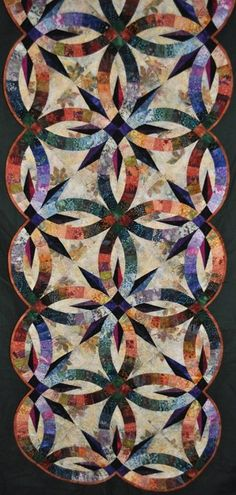 Bali Bed Runner ~ Quiltworx.com  Made by Certified Instructor Maureen Wood