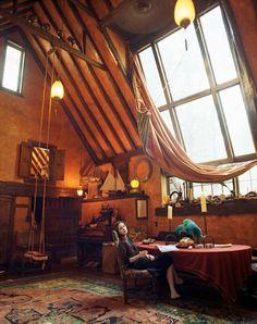 interior, curtains, lofts, dream, hammocks