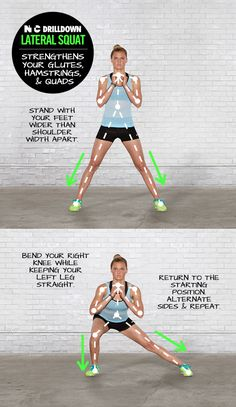 Tone and define your legs with Lateral Squats. #NTC #LakeyPeterson #nike
