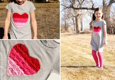 Ruffled Heart Dress tutorial by Make It and Love It