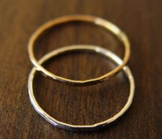 Gold Silver Ring Set