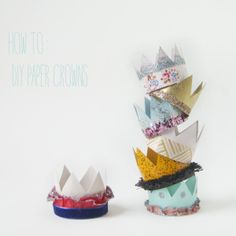 #DIY paper crowns craft project.  Basically adorable.