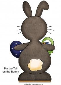 pin the tail on the bunny game free printable
