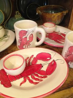 Lobster plates and Mugs