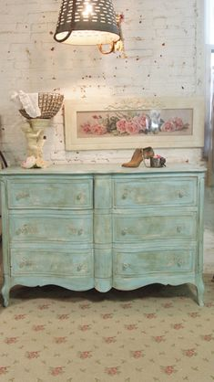 French provincial chalk paint dresser