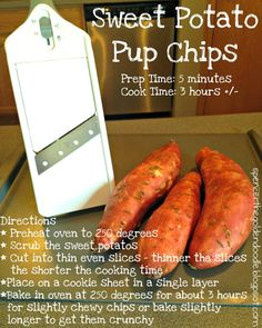 Spencer the Goldendoodle: Tasty Tuesday: Sweet Potato Pup Chip