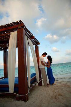 Romantic Beach Beds at Azul Beach Hotel, by Karisma Azul Beach, Karisma, Gourmet Inclusive, Riviera Maya, Family Vacation, Honeymoon, Wedding, Travel, Mexico