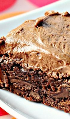 chocolate fudge brownies with chocolate buttercream frosting