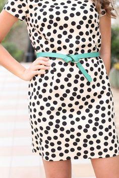 polka dot // black and white // pop of color