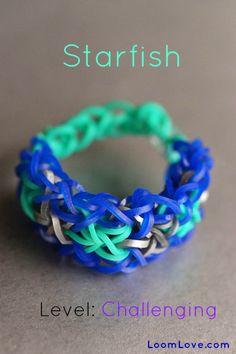 How to Make the Starfish Rainbow Loom Bracelet #rainbowloom