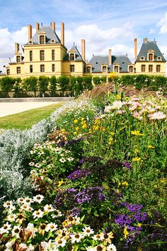 The gardens of Fontainebleau, France
