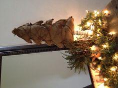 Burlap christmas tree!