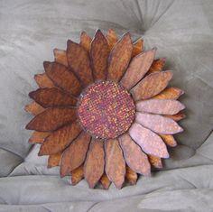 Metal Garden Art, Sculptured Sunflower Wall Hanging, Rustic Sunflower Wall Hanging, unique gift for women, flower wall hanging, via Etsy