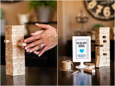 """Tie the Knot"" Jenga - Couples Shower Games + Free Printables :: The TomKat Studio for DIY Network"