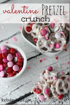 Happy Valentines Day:  Valentine Pretzel Crunch