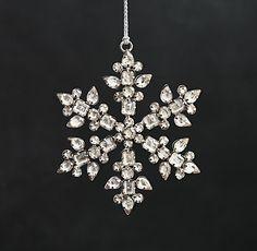 Victorian Glass Snowflkae Ornament from Restoration Hardware