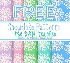 Free Snowflake Background Patterns