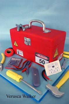 Electrical tool box Cake