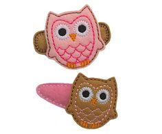 Owl FELT STITCHIES (in the hoop)