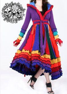 Farb-und Stilberatung mit www.farben-reich.com OOAK Satin Lined Dream Coat by Enlightened Platypus