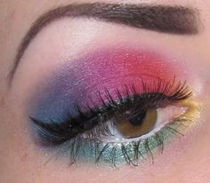 Glitter is my crack...: Gay Pride Rainbow Makeup look with Morgana Cryptoria