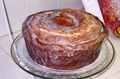 "Southern 7-up Cake and Lemon Glaze recipe~ originally from the ""Church Ladies' Divine Desserts."" Enjoy!"