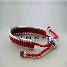 Trap Cut Links of London Friendship Bracelet Red