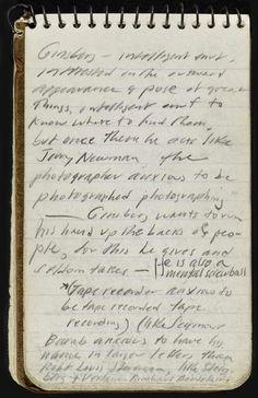 Jack Kerouac notebook
