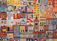 houses, quilti idea, quilt hous, hous quilt, house quilts