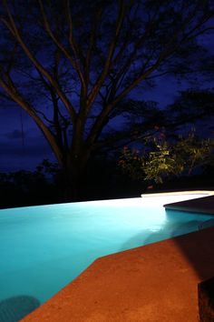 Pool at night pool