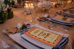 Passover table setting