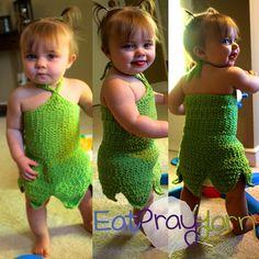 Crochet Tinker Bell Costume 12 - 18 months, http://crochetjewel.com/?p=10765