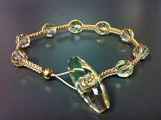 Handmade Jewelry using Luminous Green SWAROVSKI ELEMENTS.